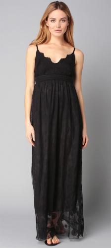Robe longue fluide noire fines bretelles Molly Bracken.jpg